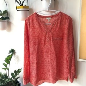 Joie red silk blouse size Xs
